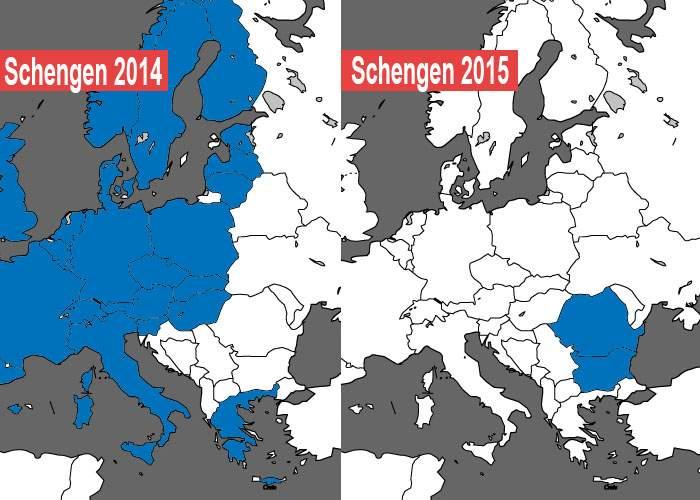 Ţeapă! România şi Bulgaria au fost primite în Schengen, dar apoi au ieşit toate celelalte ţări