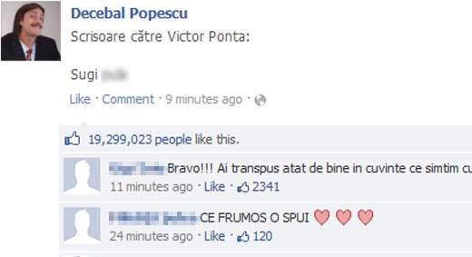 Poza zilei! Un român a scris pe Facebook un mesaj și mai emoționant la adresa lui Ponta
