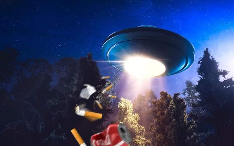 Halal civilizație extraterestră! Doi gherțoi au golit scrumiera din OZN în pădurea Baciu