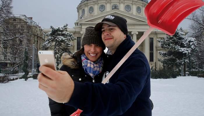 Dacă e să te iei după selfiurile de pe Facebook, România a fost deszăpezită complet de 8 ori!