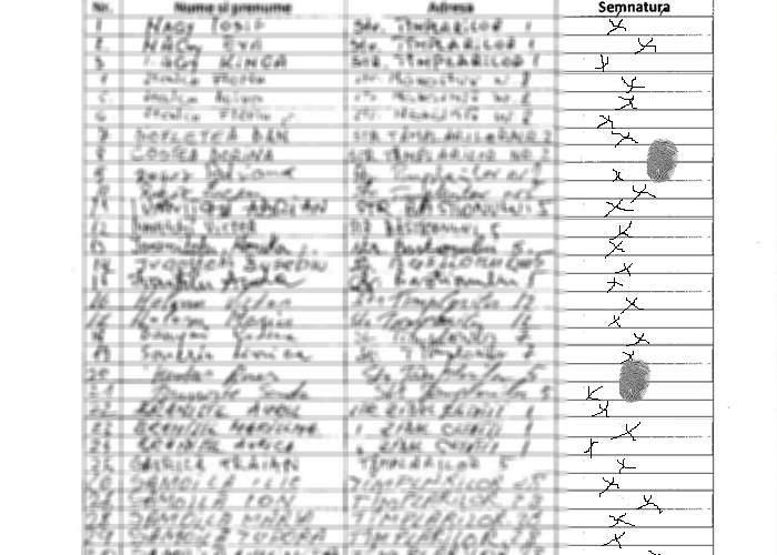 Sute de mii de români s-au semnat cu un simplu X sau cu degetul pe lista celor care vor salvarea OTV