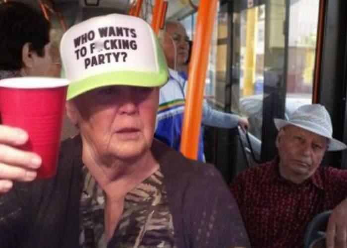 Premieră: un pensionar și-a serbat ziua de naștere în autobuz, cu prietenii