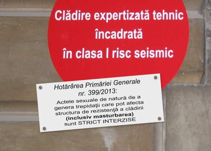 Oprescu anunţă măsuri anti-seism: Locatarii blocurilor cu bulină nu vor mai avea voie să facă sex