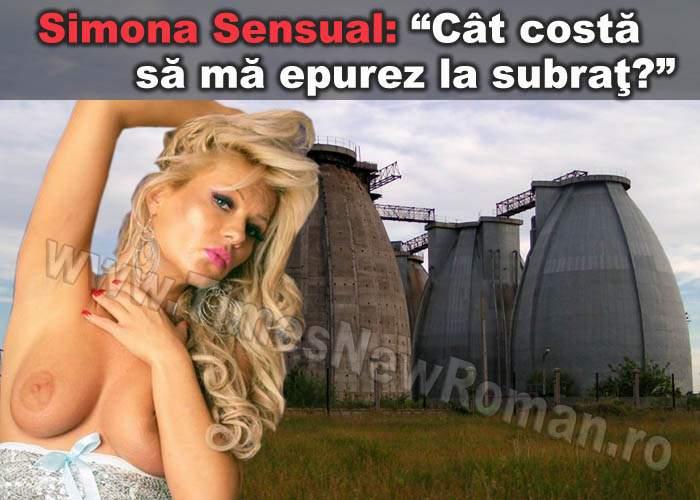 Simona Sensual s-a dus să se epileze la Staţia de Epurare de la Glina