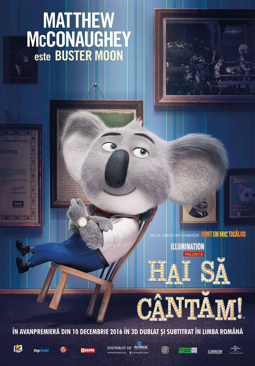 Sing 3D (2016) – Animăluțele au talent. Și-atât