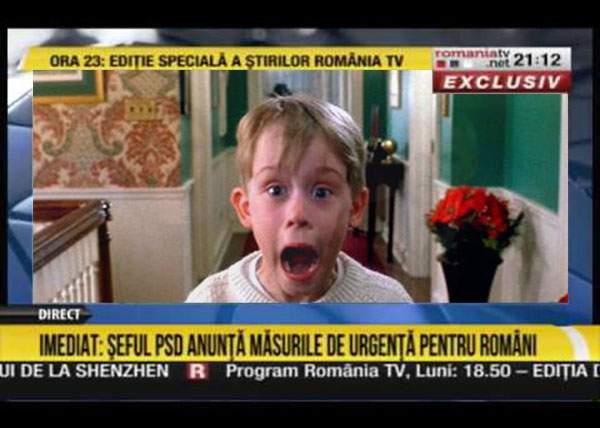 Tactici murdare. RTV şi Antena3 dau diseară Singur Acasă, ca să nu se mai iasă lumea la protest!