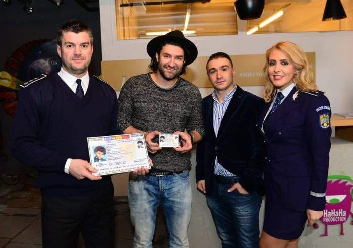 Reușită! Poliția i-a făcut buletin nou lui Smiley și l-a prins și pe Alex Velea, cel care i-l furase
