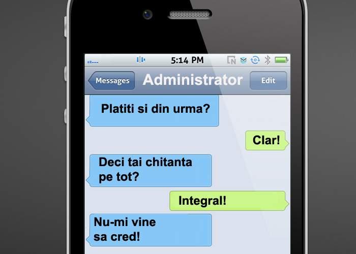 """Cea mai populară farsă din România rămâne SMS-ul către administrator cu """"Azi plătesc întreţinerea"""""""