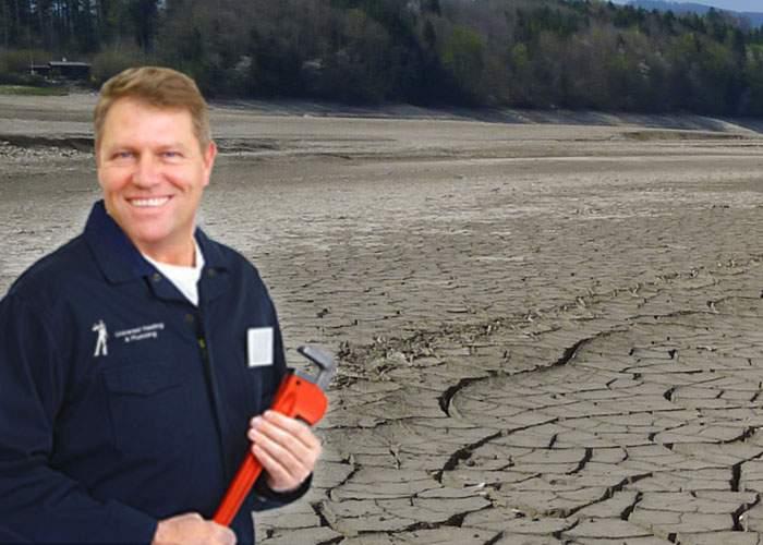 Miracol! Lacul Snagov a secat după ce Iohannis a reparat ţeava spartă de la Vila Lac 2