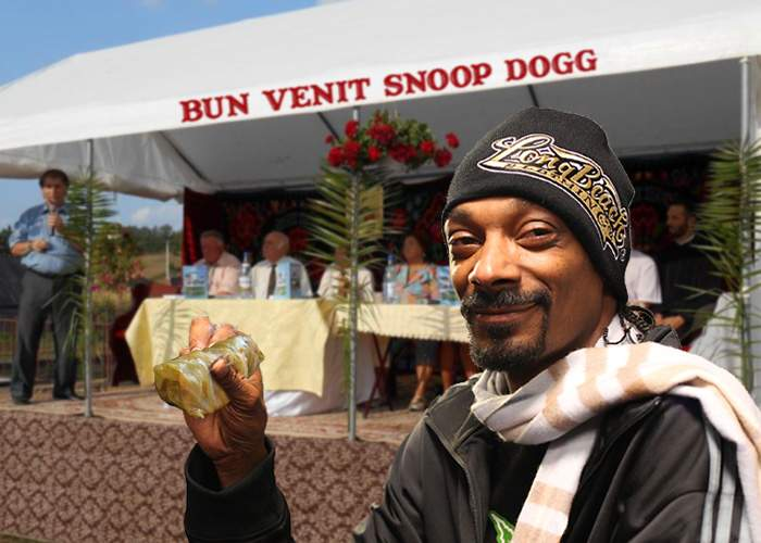 Sătenii din Bogata, impresionaţi de Snoop Dogg: Rulează sarmalele mai bine decât noi!