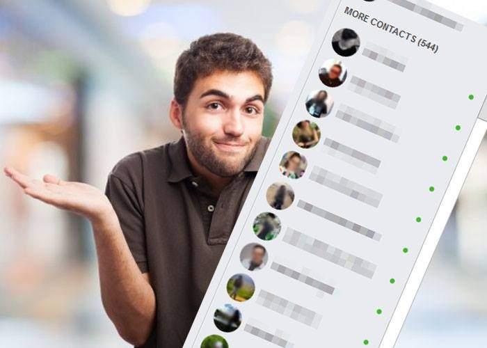 Mici secrete pe Facebook: dacă în chat apare o bulină verde în dreptul numelui, înseamnă că eşti şogor cu el