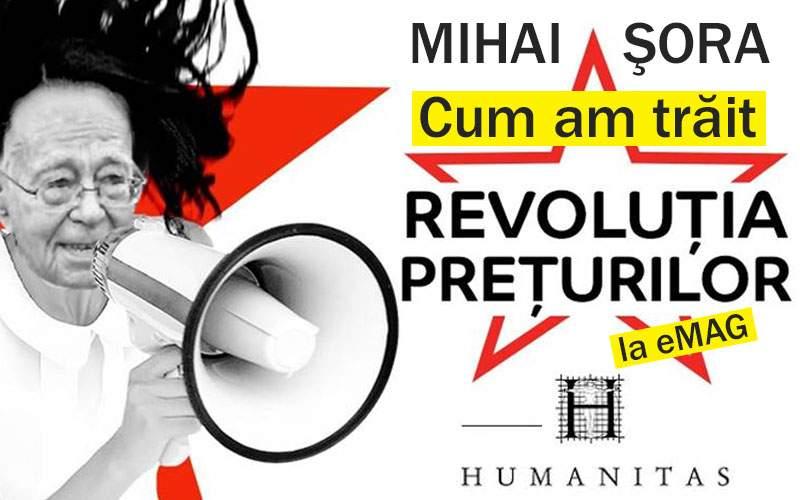"""Lansare de carte: Mihai Șora, """"Cum am trăit revoluția prețurilor de la eMAG"""""""