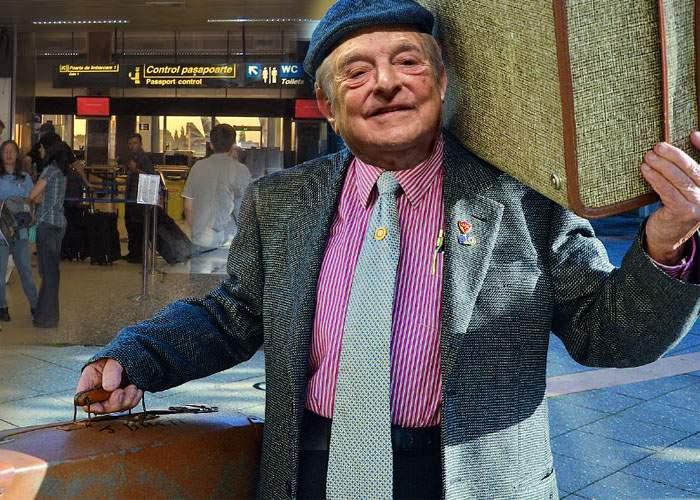 Vin salariile în presă? George Soros, văzut în Otopeni cu două valize cu bani