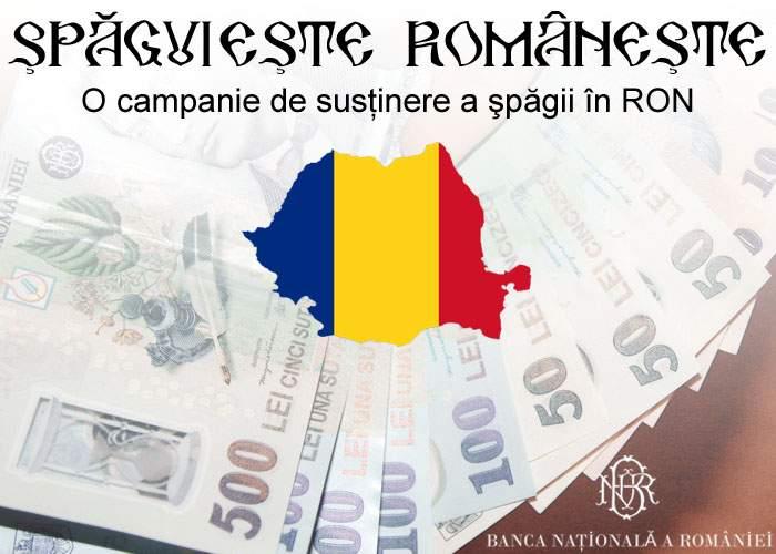 Şpăguieşte româneşte! BNR iniţiază campania de promovare a şpăgii în lei, în loc de euro sau dolari