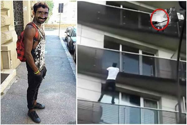 Un migrant din Ferentari a escaladat 4 etaje ca să salveze un televizor lăsat nesupravgheat de un cetăţean
