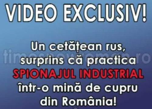 Video! Imagini exclusive cu cetăţeanul rus în timp ce spionează la o fabrică de cupru