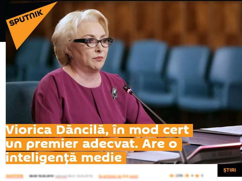 Poza zilei! Viorica Dăncilă, ridicată în slăvi de propaganda rusă de la Sputnik