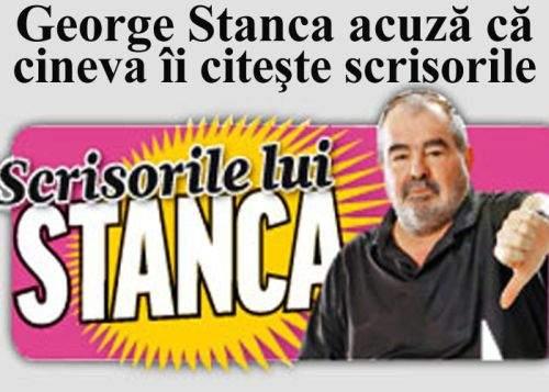 George Stanca se plânge că îi sunt citite scrisorile pe care le publică în Click!