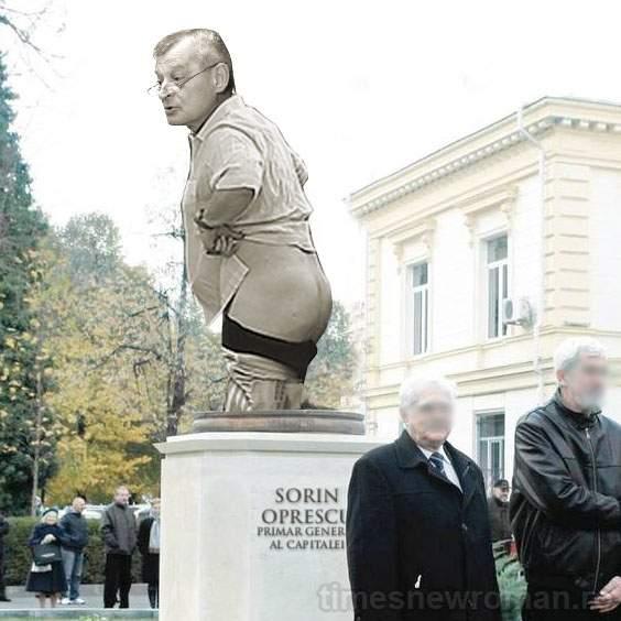 FOTO! Lângă statuia lui Traian din fața muzeului de istorie va fi pusă și o statuie cu Oprescu