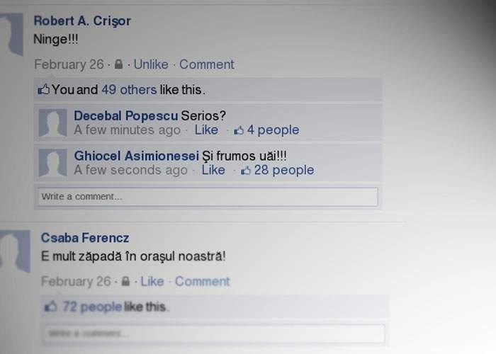 Facebook: Mii de conturi sunt încă izolate din cauza căderilor masive de statusuri despre ninsoare
