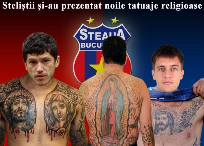 Gigi Becali şi-a obligat jucătorii să-şi facă tatuaje cu Iisus sau Maica Domnului