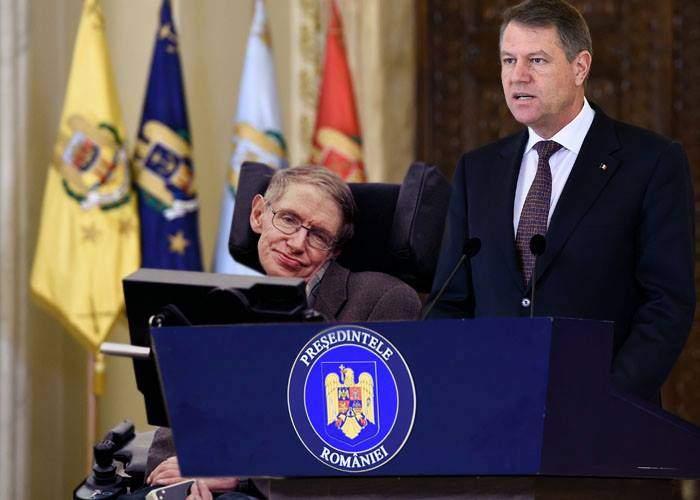 """Stephen Hawking, favorit să devină noul purtător de cuvânt al lui Iohannis: """"Vorbește exact ca el!"""""""