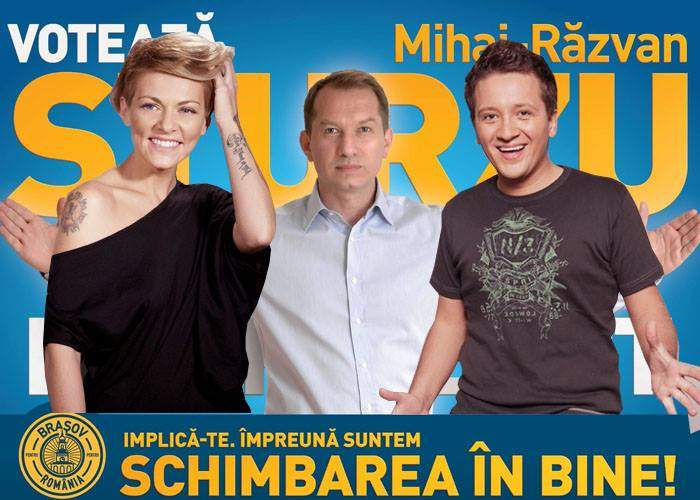 Gafă incredibilă a lui Mihai Sturzu! S-a pus în afișele electorale fără colegii din HiQ