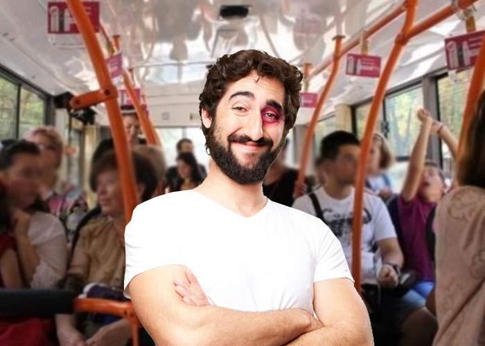 Există şi avantaje! Un tânăr gazat în Piaţa Victoriei spune că acum nu-l mai deranjează să meargă cu autobuzul