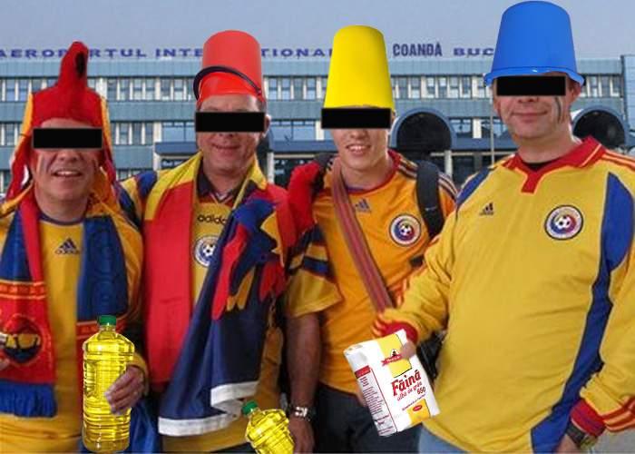 """Veşti bune! Suporterii greci vor striga """"Hai România""""! Au fost cumpăraţi cu ulei, făină şi găleţi"""