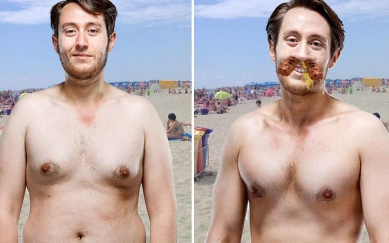 Incident pe plajă: un român şi-a supt burta brusc şi i-au ieşit doi mici pe nas