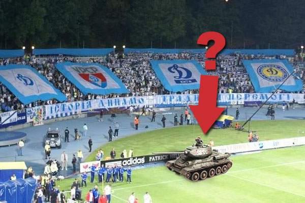 Efectele războiului! Dinamo Kiev are terenul suspendat din cauză că pe gazon a pătruns un tanc