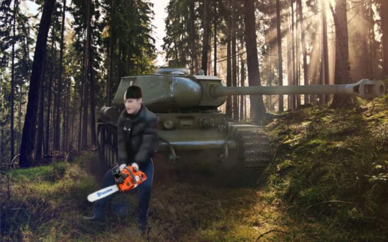 Auzind că pădurarii primesc arme letale, hoții de lemne se înarmează cu tancuri și rachete