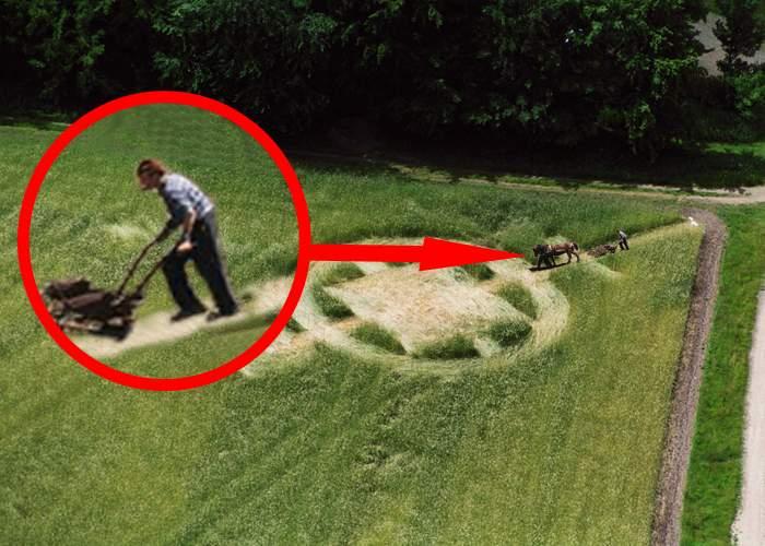 Apariţie misterioasă într-un lan de grâu din România: un ţăran a fost văzut muncind