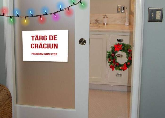 Un bărbat și-a deschis târg de Crăciun în baie, ca să-și împiedice nevasta să mai stea acolo cu orele