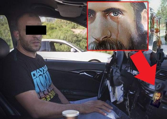 O icoană dintr-un taxi a început să lăcrimeze, de la mirosul taximetristului
