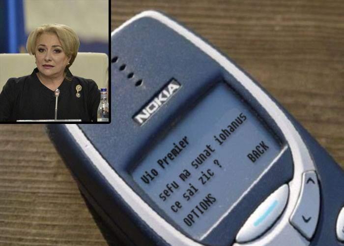 """Gafă! Viorica Dăncilă i-a trimis din greşeală lui Iohannis SMS-ul cu """"Mă sună Iohannis, ce să-i zic?"""""""