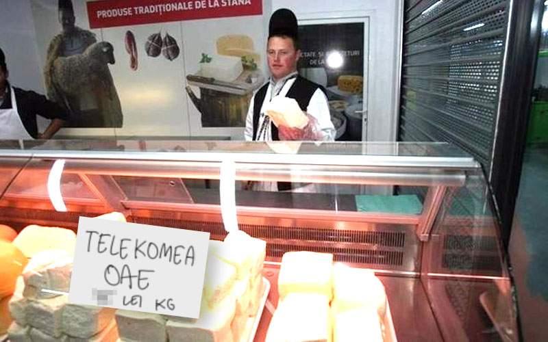 Reclamă pe faţă! Brânza ciobanului Ghiţă se cheamă acum telekomea