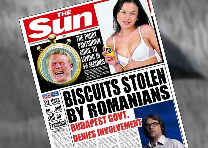 """Tabloidele britanice ne vorbesc din nou de rău: """"Românii ne fură biscuiţii şi se şi laudă cu asta!"""""""
