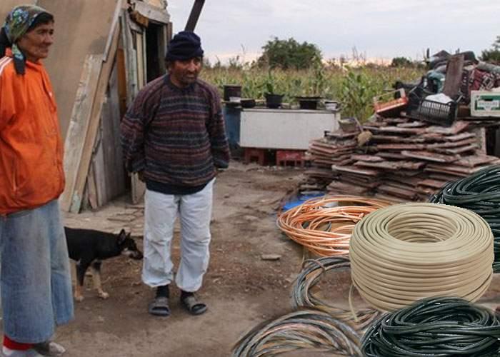 Gest patriotic al ţiganilor din Harghita: au dezarborat cablul secuiesc de pe sute de stâlpi