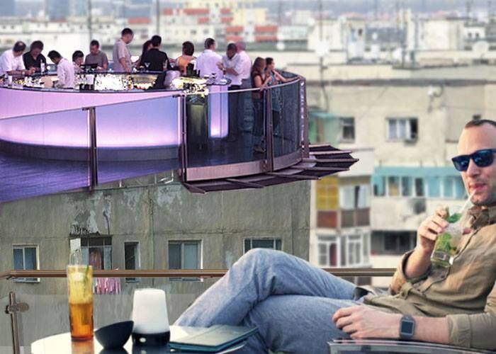 Un nou trend în Bucureşti. Locatarii demontează mansardele, să-şi facă sky bar pe bloc