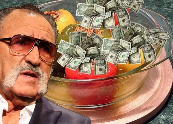 Bucătăria vedetelor! Ion Ţiriac s-a dus la o emisiune TV cu o reţetă proprie, ardei umpluţi cu bani