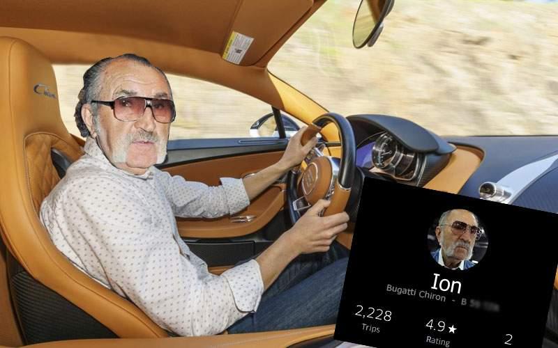 Ca să mai scoată un ban, în weekend Ion Ţiriac face Uber cu un Bugatti
