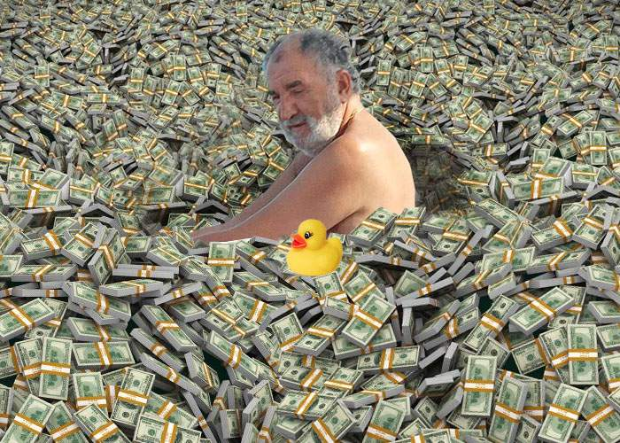 Ce noroc! Ţiriac a găsit o pereche de blugi într-un morman de bani pe care nu-i mai numărase de mult