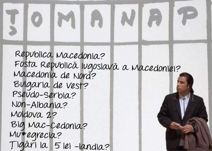 Federaţia Română de ŢOMANAP somează Macedonia să se hotărască mai repede care e numele ei oficial