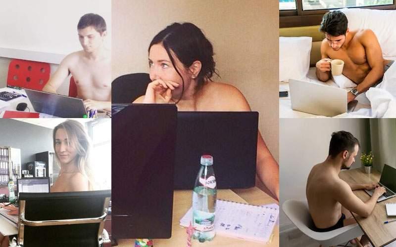 Casual Friday în corporații. Vinerea poți munci de acasă doar în chiloți și la bustul gol
