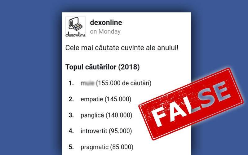 """Pornhub infirmă lista Dexonline: """"Nu, n-au fost alea"""""""