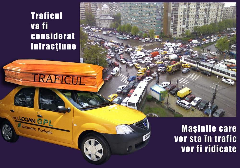 Poliţia rutieră ameninţă: Maşinile blocate în trafic vor fi ridicate