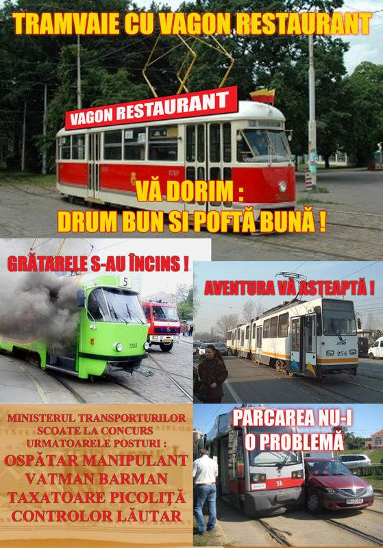 Tramvaiele vor avea vagon restaurant