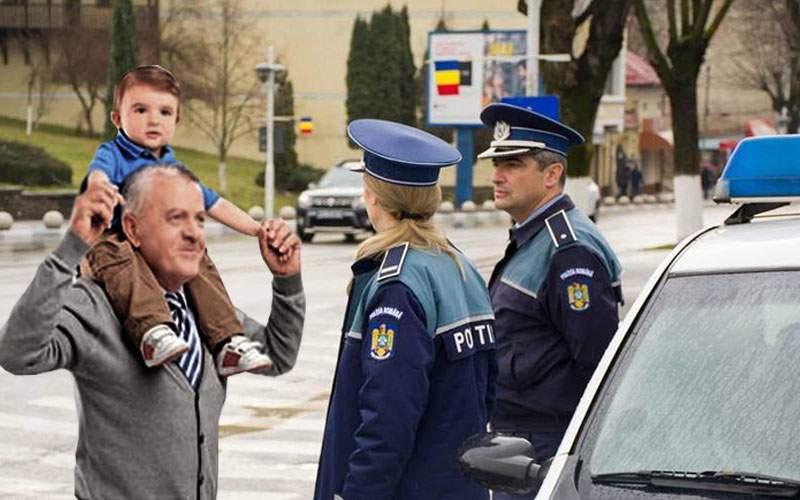 Părinte care îşi ducea copilul în cârcă, amendat pentru transport ilegal de persoane