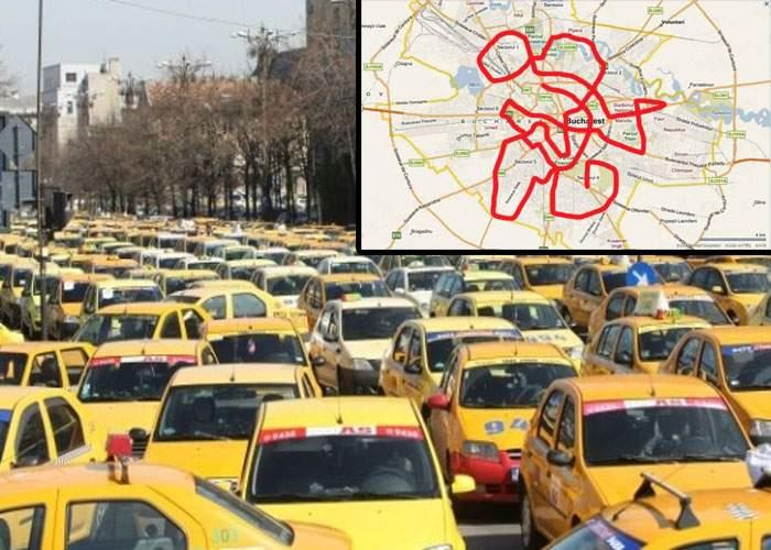 Protestul taximetriştilor blochează Bucureştiul! Din reflex, vor ocoli prin tot oraşul în drum spre Piaţa Victoriei